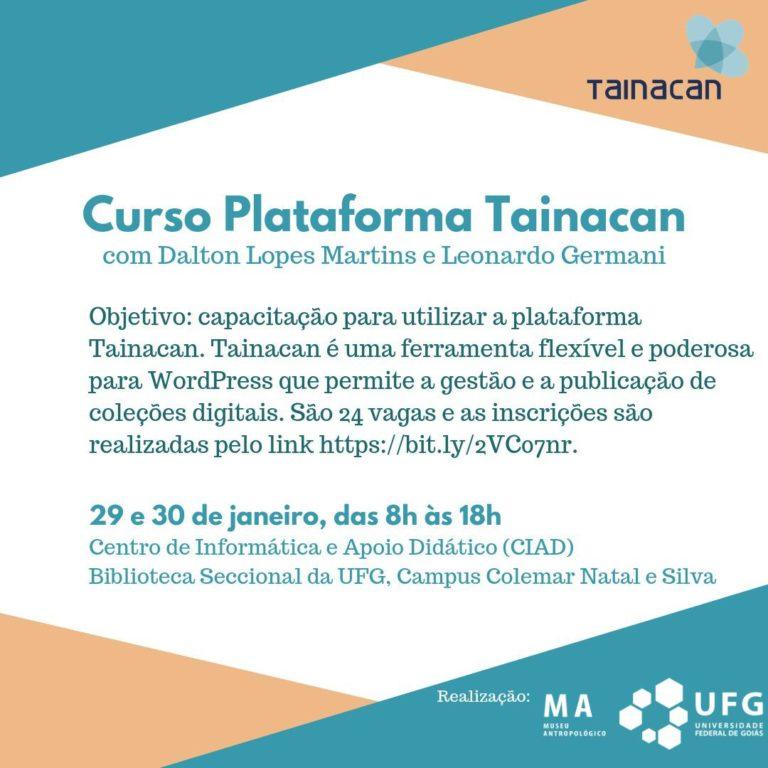 Inscrições abertas:  curso de gestão e publicação de coleções digitais com Tainacan