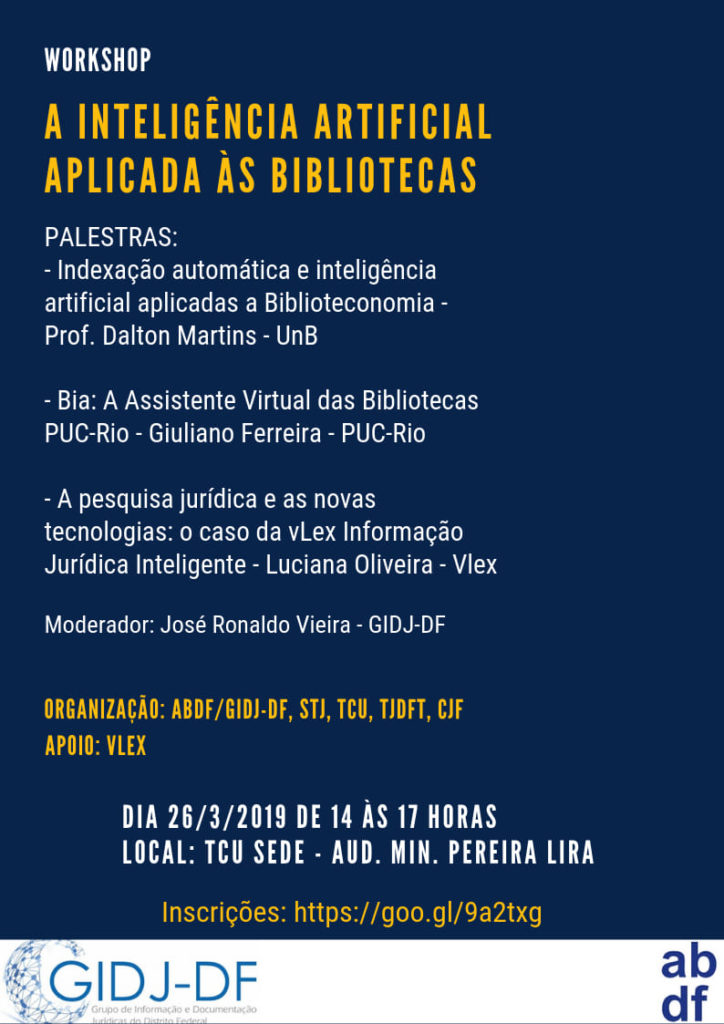 Workshop: A Inteligência Artificial aplicada às Bibliotecas