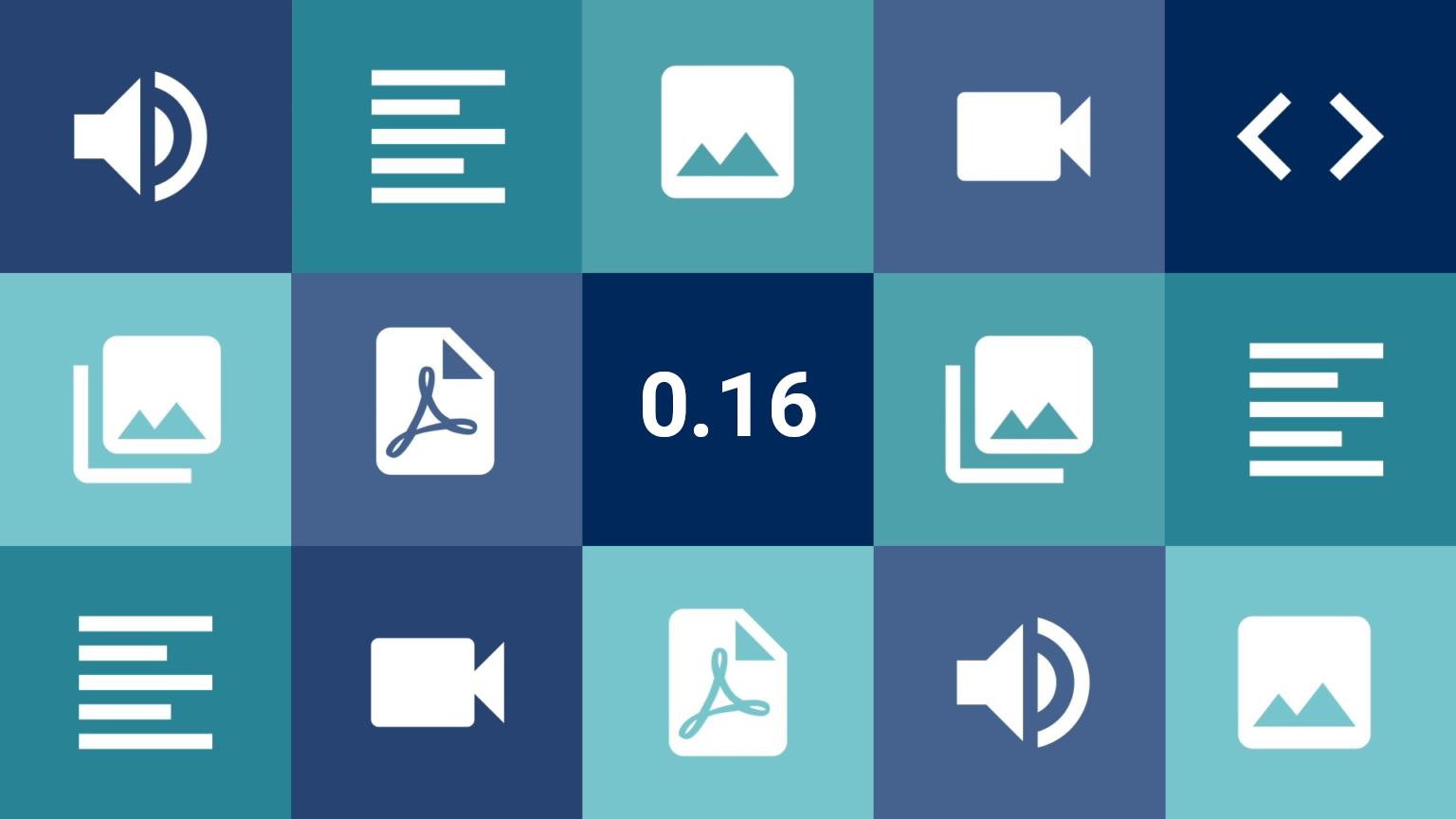 Capa de Lançamento da Versão 0.16